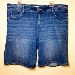Loft Plus Bermuda Denim Shorts 16